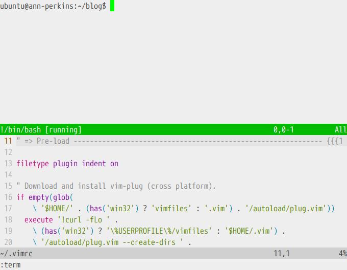 Status bar color in Vim terminal mode - Ruslan Osipov